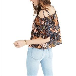 Madewell Off The Shoulder Silk Blouse S
